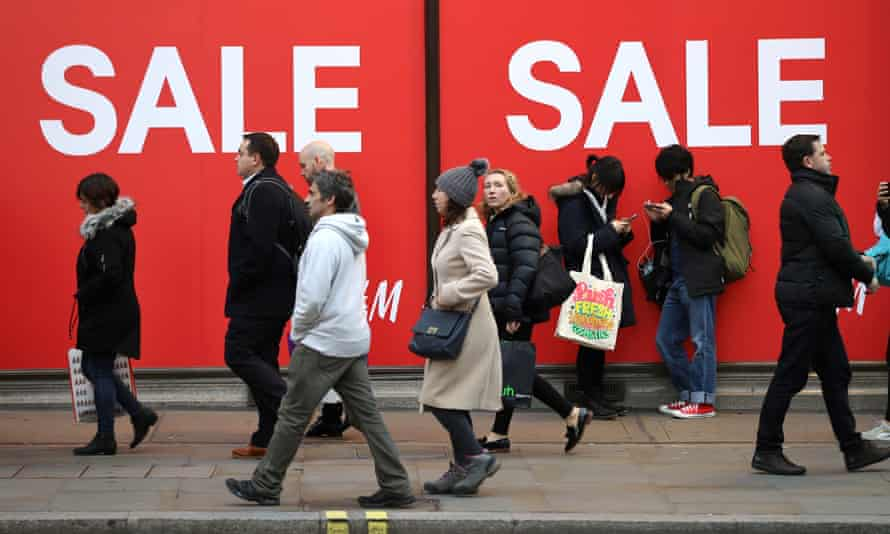 UK shoppers on Oxford Street