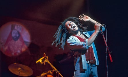 'Righteous rebellion': Bob Marley performing with the Wailers at Rainbow theatre, London, June 1977