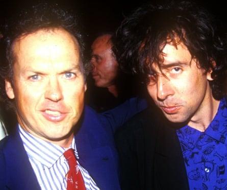 Actor Michael Keaton with film director Tim Burton