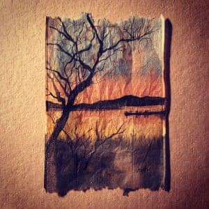 Ruby Silvious painted tea bags 363 days of tea