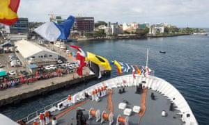 Chinese naval hospital ship Ark Peace arrives in Suva, Fiji