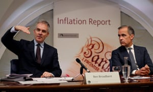 Ben Broadbent, left, described the economy as entering a 'menopausal' era.