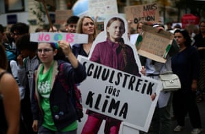 Vienna, Austria A cardboard cutout of Greta Thunberg