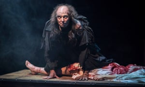 Harry Attwell as the Creature in Frankenstein.