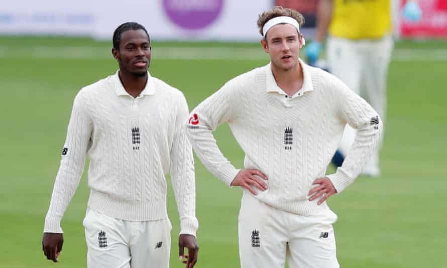'It beggars belief that someone could write the messages that they have to Jofra [Archer],' said Stuart Broad (right).