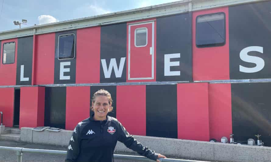 Kelly Lindsey at the Dripping Pan, home of Lewes FC.