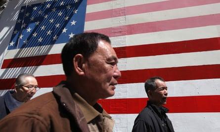 asian men us flag