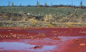 Daldykan river turned red
