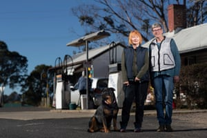 Liz Lacey (left) and Ellie Newton at the Quaama general store in the electorate of Eden Monaro.