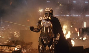 Gwendoline Christie as Captain Phasma in Star Wars: The Last Jedi.