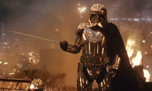 Gwendoline Christie's character dies more quickly in the sexist recut of the film, because of the gender of the actor inside this costume