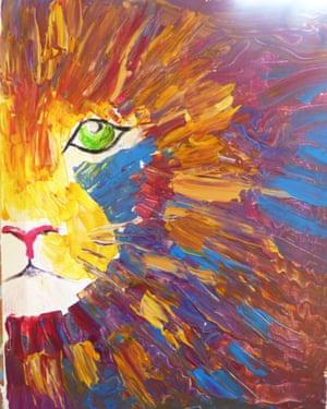 Ken's Lion painting.