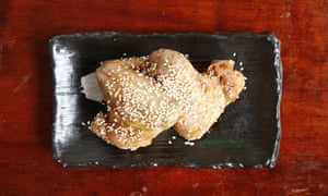'Worth the mess': sweet soy and sesame chicken wings.