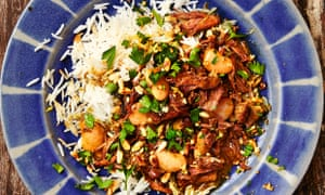 Yotam Ottolenghi's oxtail and butterbean stew with bkeila.