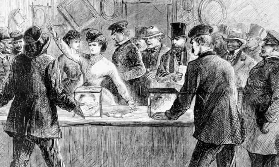 Victoria Claflin Woodhull asserts her right to vote.