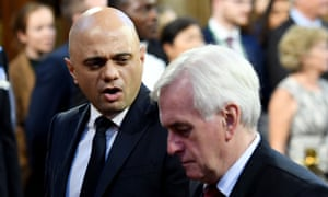 Sajid Javid and John McDonnell at the state opening of parliament last month.