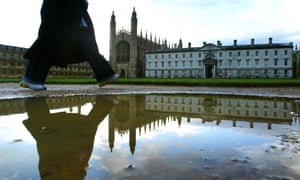 feet at rear of King's College Cambridge