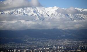 Andes mountains near Santiago