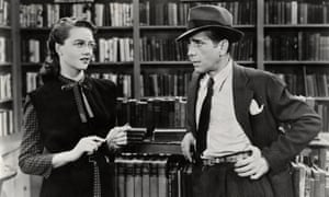 Dorothy Malone with Humphrey Bogart in The Big Sleep, 1946.