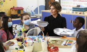 Melania Trump at the Bambin Gesu' children's hospital.