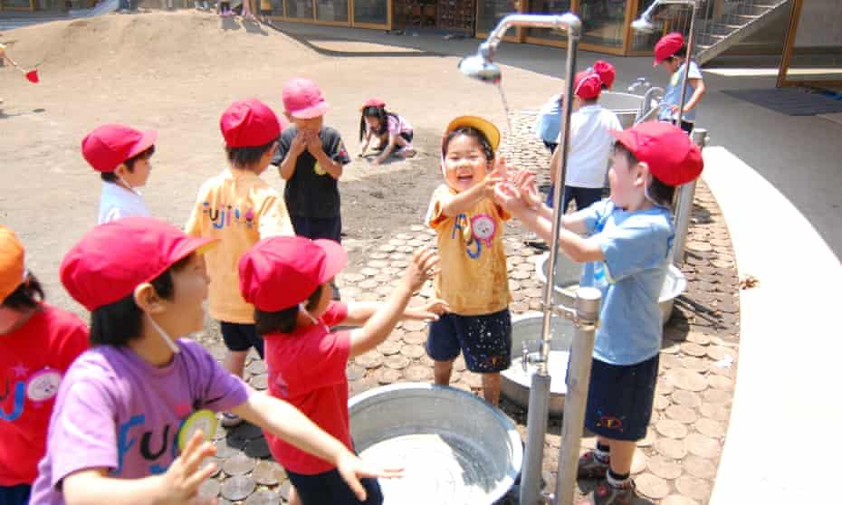 Children inside the Fuji Kindergarten