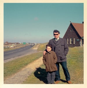 Chris Dorley-Brown with his father Peter, Beachy Head 1967