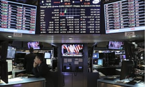 New York Stock Exchange screens