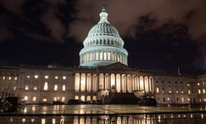 The US Capitol is seen ahead of a possible government shutdown on 21 December.