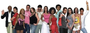 Makosi Musambasi, sixth from right, with the rest of the housemates on Channel 4's Big Brother 6.