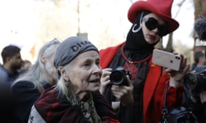 British fashion designer Vivienne Westwood speaks in support of WikiLeaks founder Julian Assange outside Westminster magistrates court where he was appearing on Thursday.
