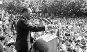 Martin Luther King speaks against the Vietnam war at the University of California, in Berkeley, on 17 May 1967.