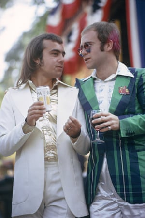 'I've never had an argument with him' … John with Bernie Taupin, 1973.