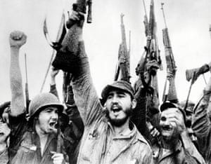 Castro leads his victorious troops