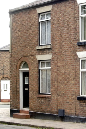Ian Curtis's former home in Macclesfield, Cheshire.