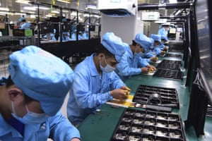 A factory for Chinese telecommunications company OPPO in Dongguan, in southern China's Guangdong Province.