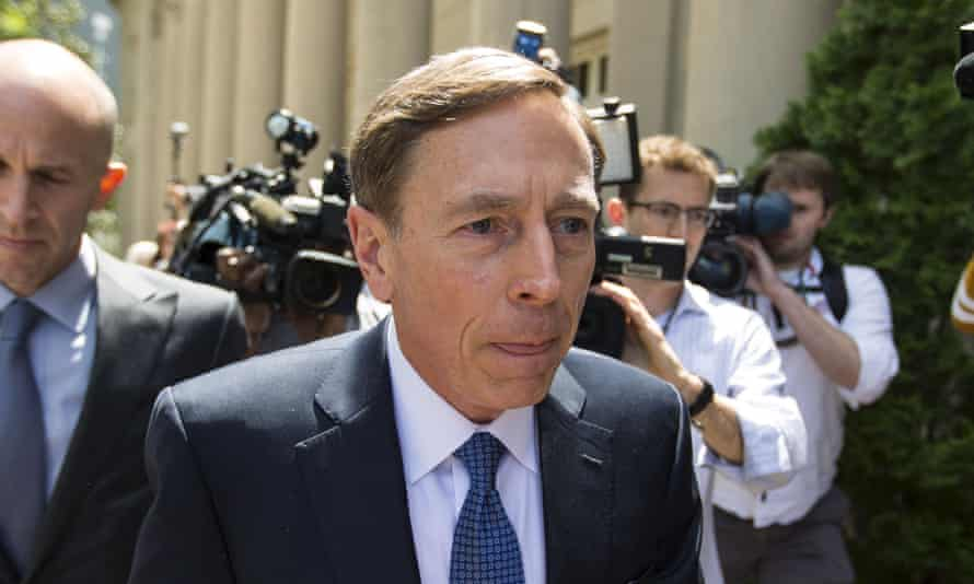 David Petraeus has made flattering remarks about Trump's 'outsider' status since the election.