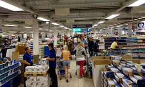 People look for merchandise to buy at the Ullared shopping center.