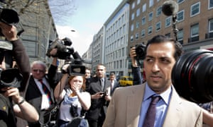 Mahmood al-Zarooni outside the BHA offices at the time of his disciplinary hearing in 2013.