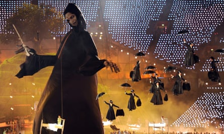 Mary Poppins versus Lord Voldemort at the London 2012 Olympic opening ceremony.