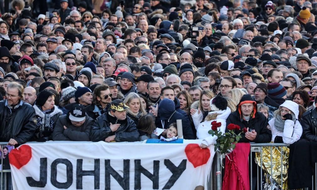 Fans gathered outside La Madeleine church