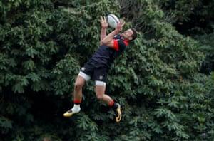 England's Jonny May during training