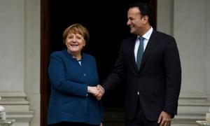 Angela Merkel meets with Leo Varadkar in Dublin.