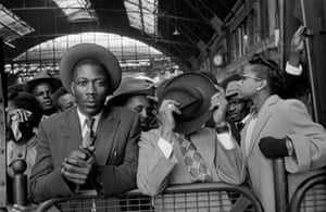 West Indian people at Victoria station after their journey from Southampton docks