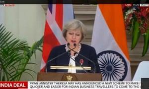 Theresa May in Delhi