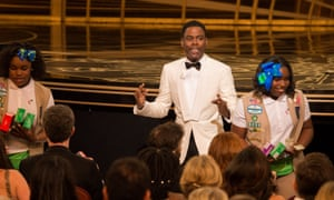 Between a Rock and a hard place? Oscars host and his Girl Scout cookie sellers at the Academy Awards