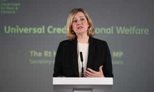 Former work and pensions secretary Amber Rudd had acknowledged universal credit's inefficiencies.