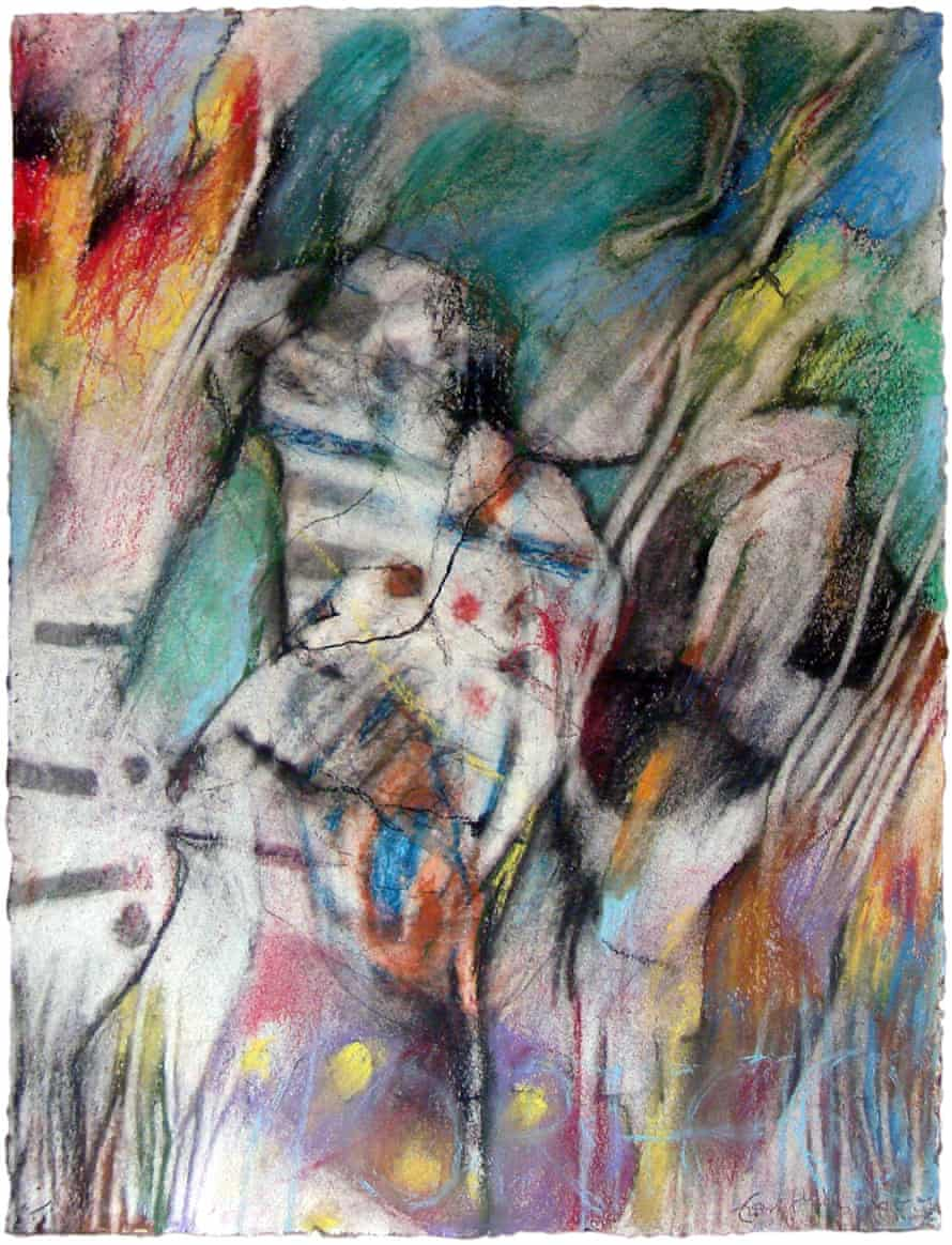 Siegfried's Funeral March, drawing by Tom Phillips, 2011, pastel on paper 48 x 36.5 cm