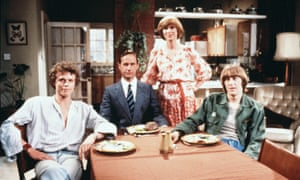 'I wanted to write about a woman contemplating adultery': Wendy Craig as Ria, with from left, Andrew Hall, Geoffrey Palmer and Nicholas Lyndhurst, in Carla Lane's Butterflies, 1978.