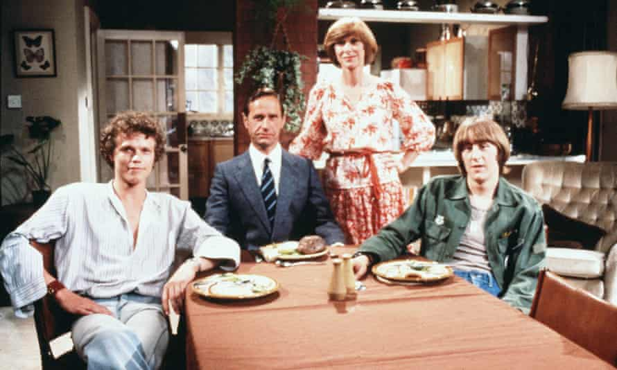 Andrew Hall, left, with Geoffrey Palmer, Wendy Craig and Nicholas Lyndhurst in the BBC's Butterflies in 1978.