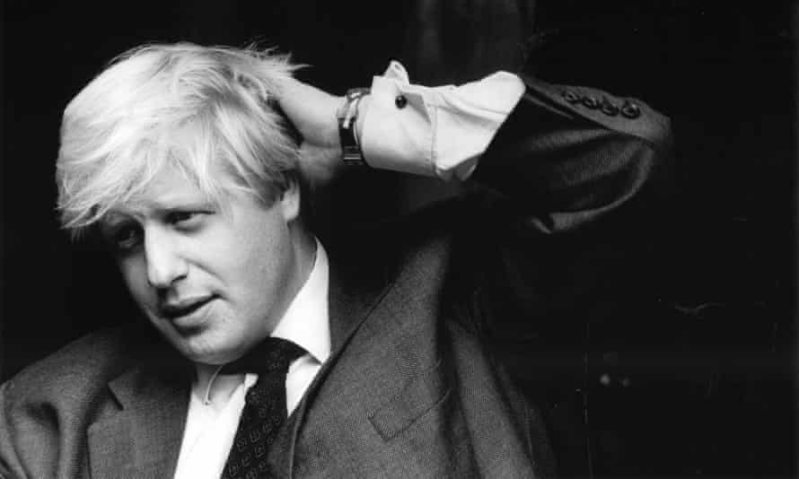 Boris Johnson in August 1995, shortly after his stint as the Telegraph's European correspondent.